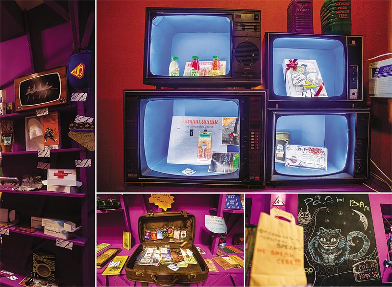 Почти музей: Как из сталинской «трешки» сделать магазин,  а из старых телевизоров и дверцы от холодильника –  прилавки для товаров